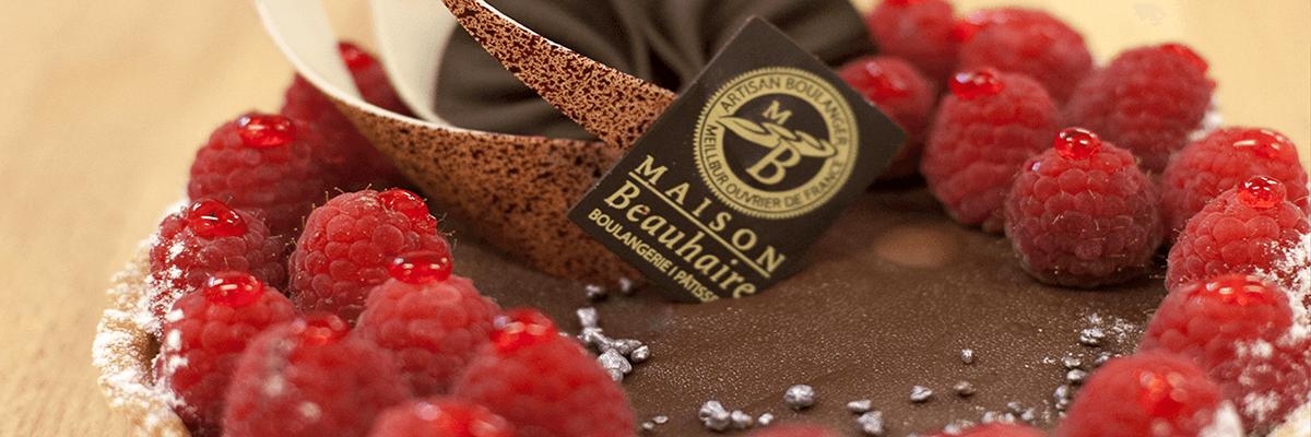 Patisserie à la framboise - Boulangerie Maison-Beauhaire